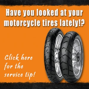 Two motorcycle tires