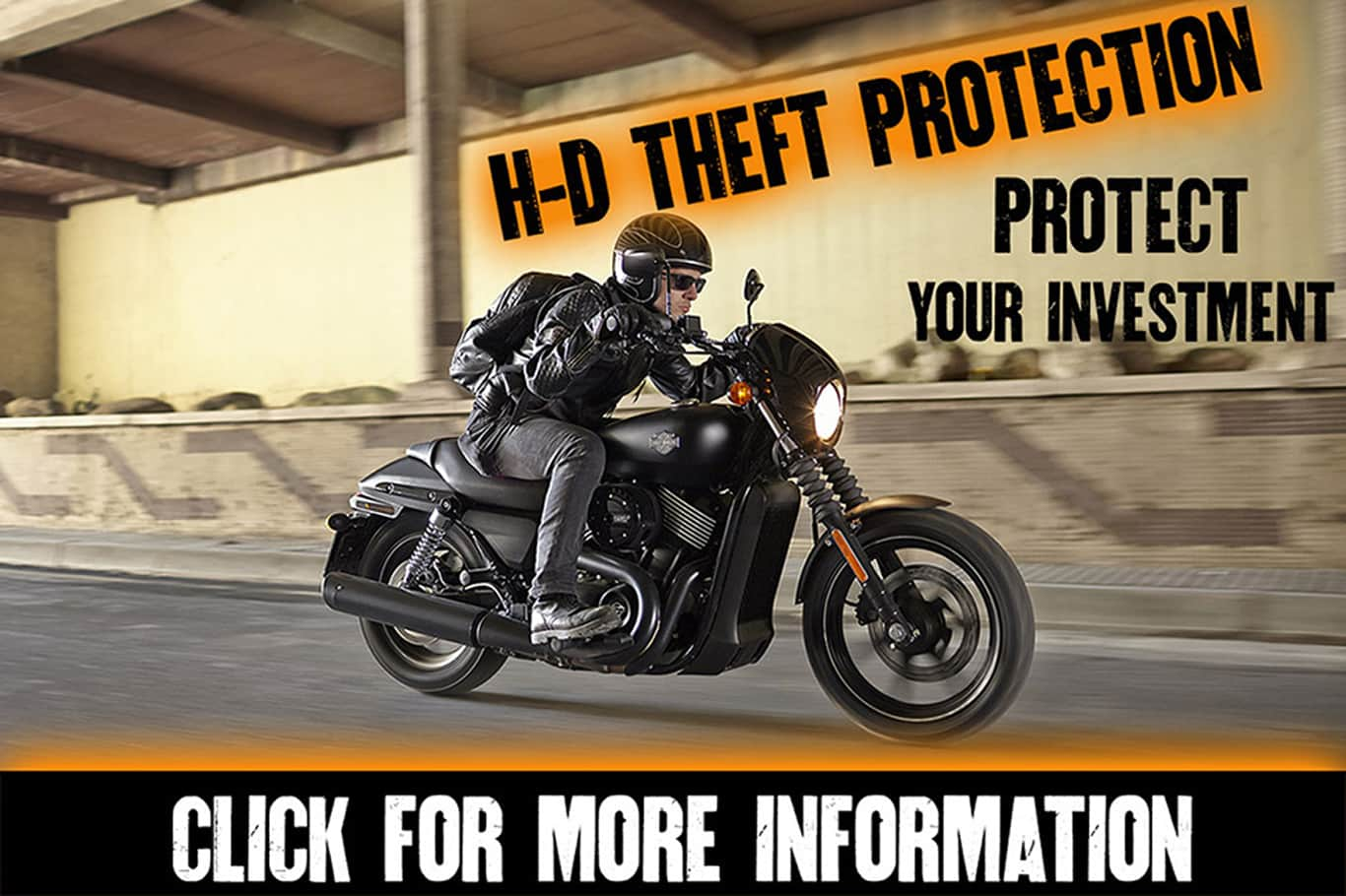H-D Theft Protection | Person riding black Harley-Davidson® motorcycle